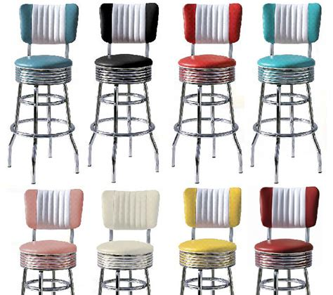 American Diner Style Bar Stools by Retro 50s Style Diner Stools Diner Stools Bel Air 50s