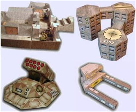 Rpg Papercraft - rpg floor plan building vehicle papercrafts