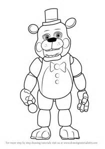 To draw toy freddy fazbear from five nights at freddy s five nights