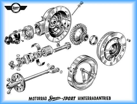 Awo 425 Kardan by Explosionszeichnung Von Motor Getriebe Kardan Und