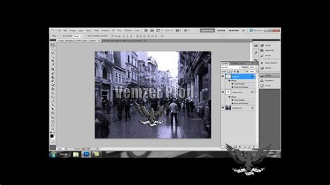 membuat watermark di photoshop cs5 adobe photoshop cs5 watermark tutorial youtube