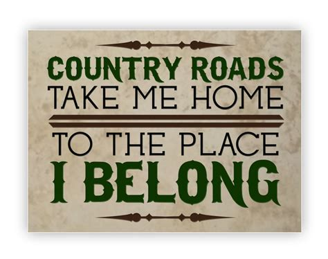 tile medium country roads take me home