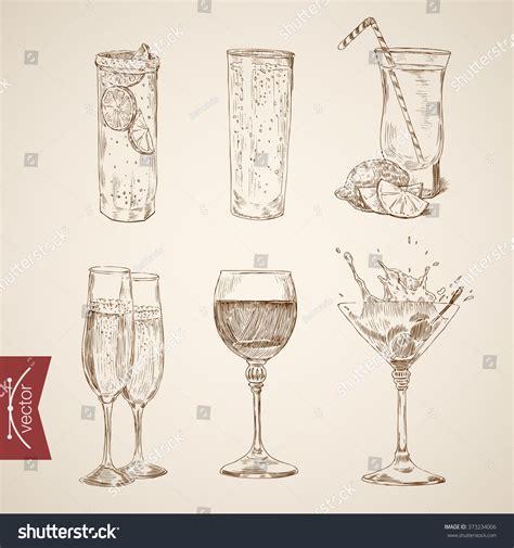 retro martini drawing chagne glass drawing vintage www pixshark com
