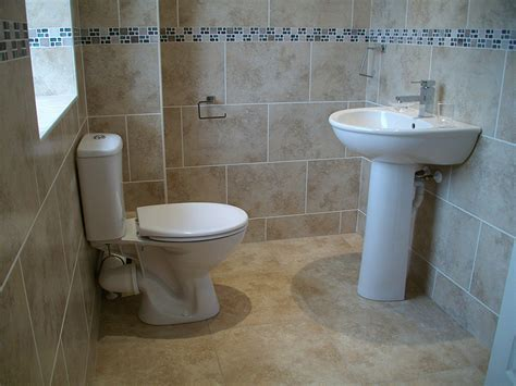 fully tiled bathroom double storey extension building construction diary before