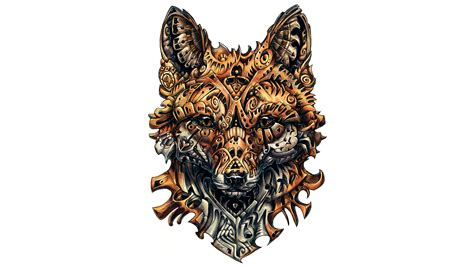 animal tattoo wallpaper wallpaper fox artwork tattoo 4k creative graphics 7219