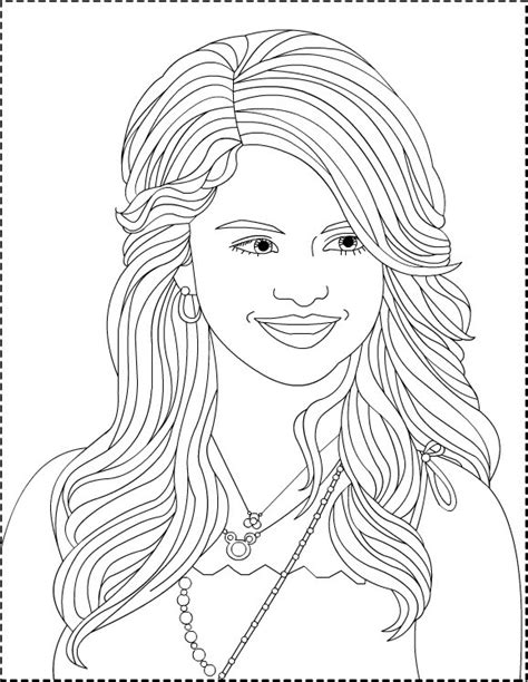 selena gomez coloring pages coloring pages to print