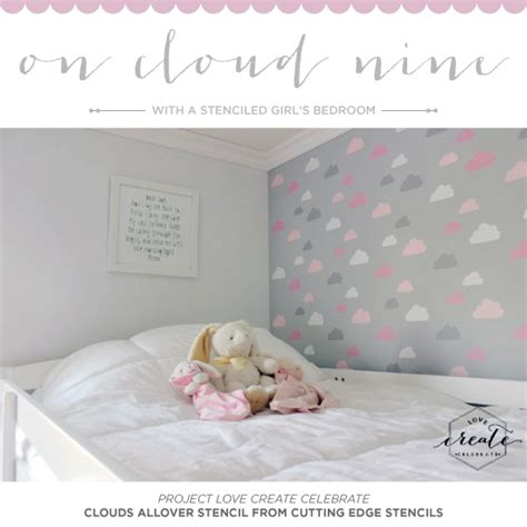 girls bedroom stencils on cloud nine with a stenciled girl s bedroom stencil