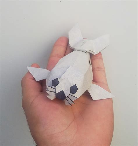 Origami Seal - 20 awesome origami arctic animals