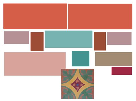 terracotta color palette created my color scheme terra cotta pink turquoise purple and