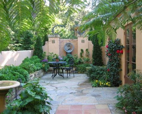 mediterranean backyard designs small courtyard houzz