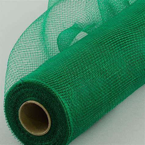 deco mesh 21 quot poly deco mesh emerald green re100206 craftoutlet