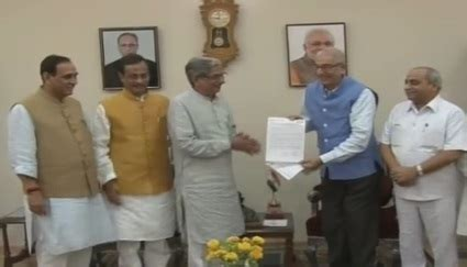 bjp ministers meet gujarat governor op kohli and claims to