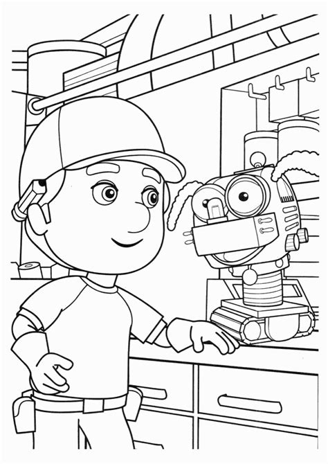 10 Disney Handy Manny Printable Coloring To Print Handy Manny Coloring Pages