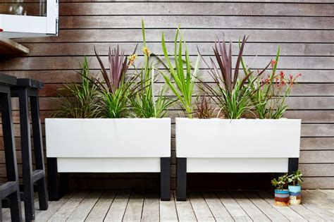 garden planter box modern planters for use indoors