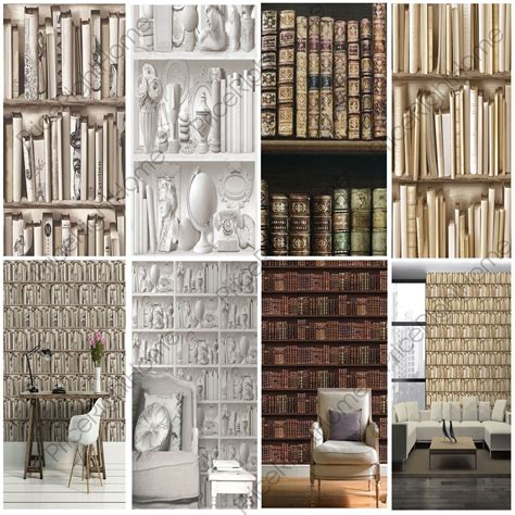 white bookcase wallpaper bookcase pattern wallpaper white feature wall