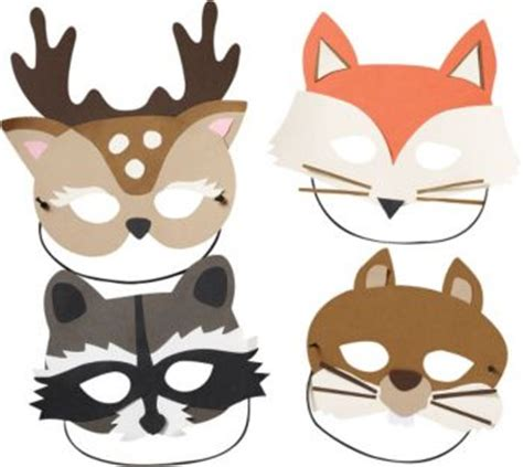 woodland animal masks template woodland masks kit