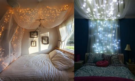 Bed Canopy With Lights 14 Diy Bed Canopies To Turn Your Bedroom Into A Serene Sanctuary
