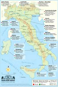 Wine Map Of Italy by Map Of Italian Wine Regions
