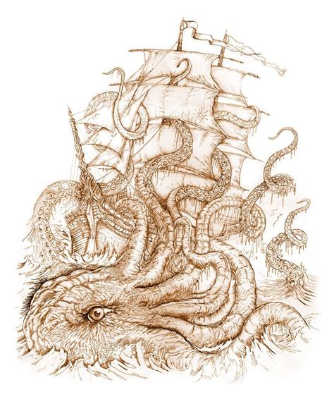 boat and octopus drawing 31 best nautical art images on pinterest octopuses