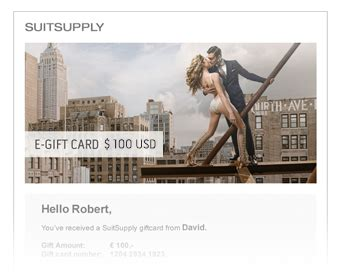 Suit Supply Gift Card - giftcards suitsupply online store
