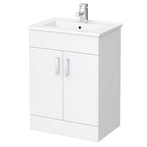 White Bathroom Vanity Units by Turin High Gloss White Vanity Unit Bathroom Suite W1100 X
