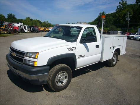 2007 chevrolet 2500hd service mechanic utility truck