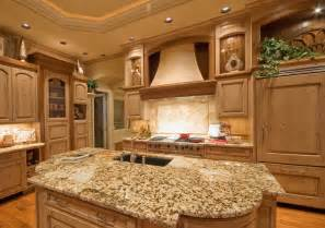 Kitchen island counter in the center unlike most kitchen islands which