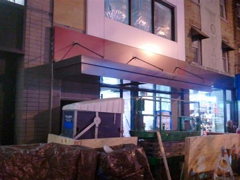 awning brooklyn custom aluminum awning canopy installed for wendy s in