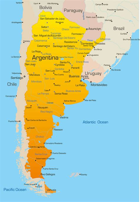 argentina colors argentina map guide of the world