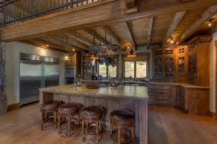 Kitchen Island With Granite Top And Breakfast Bar 35 Beautiful Rustic Kitchens Design Ideas Designing Idea