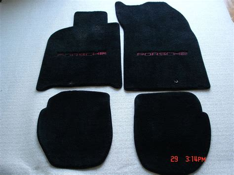 lloyd mats porsche   rs america black  red lettering pelican parts forums