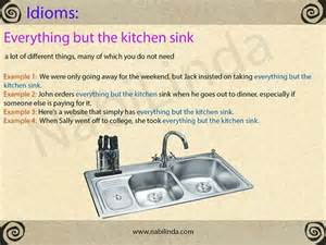 Kitchen Sink Expression 453 Best Images About Idioms On Language And Its Meaning