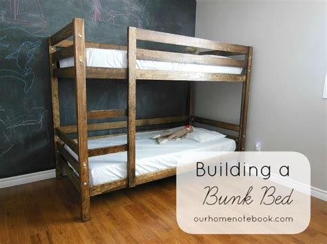 Build A Bunk Bed Building A Bunk Bed At Our Home Notebook They Used White S Plan And Made A Few Adjustments