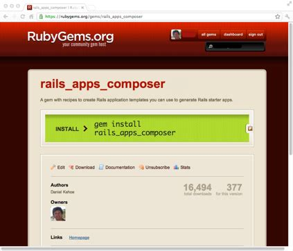 Rails App Template tutorial rails apps composer 183 railsapps rails apps
