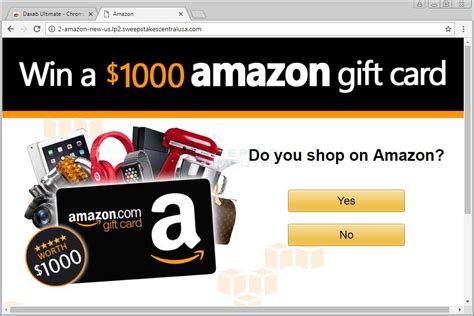 Win 1000 Amazon Gift Card - remove the win a 1000 amazon gift card page