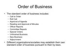robert of order agenda template robert s power point