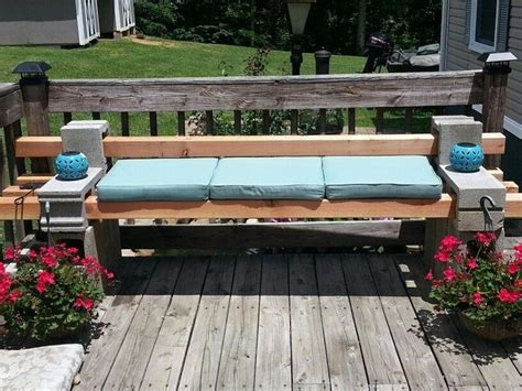 cinder block and wood bench diy cinder block outdoor bench the owner builder network