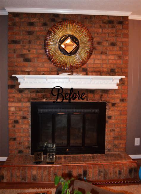 chalk paint brick fireplace shabby paints chalk acrylic painted fireplace brick