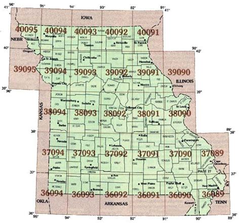 map missouri area codes springfield mo zip code map my