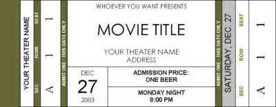 Ticket Template Microsoft Word – Microsoft Ticket Template