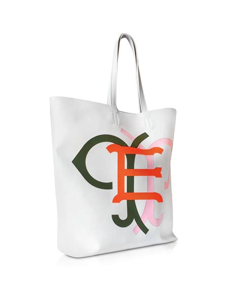 Pucci Jacquard Logo Tote by Lyst Emilio Pucci Large Multicolor Logo White Leather