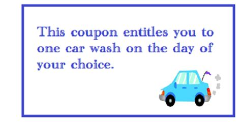 Car Wash Gift Card Los Angeles Gift Ftempo Printable Car Wash Coupon Template