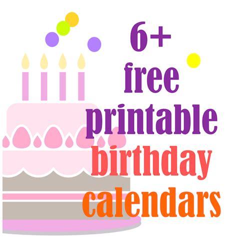 free printable yearly birthday calendar free printable perpetual birthday calendar calendar