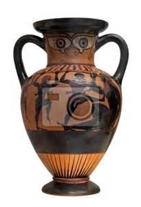 sticker ancien vase ulysse d 233 peindre la lutte contre