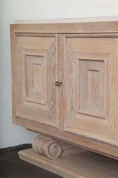 pair of limed oak four door cabinets at 1stdibs