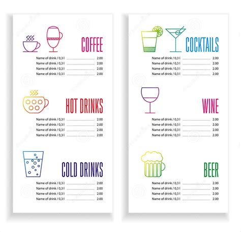 beverage menu template 12 catering menu designs design trends premium psd