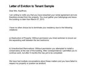 Landlord Eviction Letter Template Letter Of Eviction