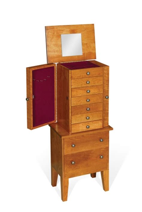 shaker jewelry armoire cherry shaker jewelry armoire carriage house furnishings