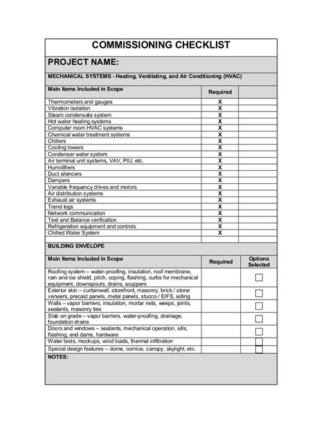 tower inspection report template 157882189 commissioning checklist3 11 10