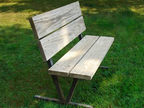 free metal park bench plans woodworking projects